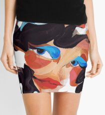 Daughter and Mother Children's Book Illustration Mini Skirt