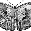 Steampunk Butterfly - Black and White by RetroArtFactory