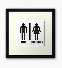 Scottish WC Framed Print