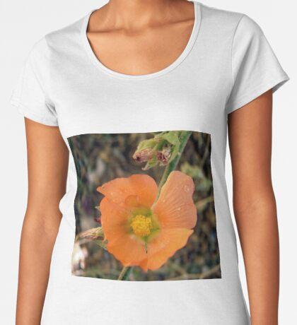 Orange flower Women's Premium T-Shirt