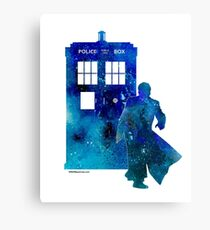 The 10th Doctor with the TARDIS Canvas Print