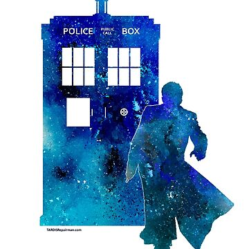 The 10th Doctor with the TARDIS by TARDISRepairman