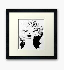 Black White Ombre Girl Framed Print