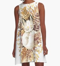 Schlummern A-Linien Kleid
