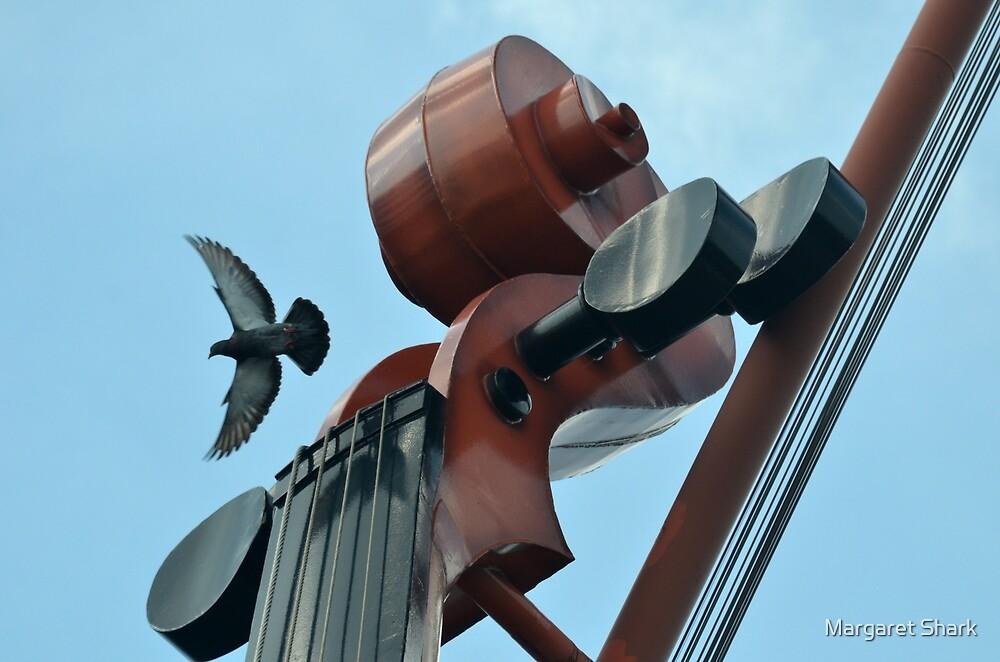 bird with violin by Margaret Shark