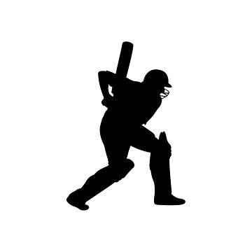 Cricket Batting Duvet Cover by Gotcha29