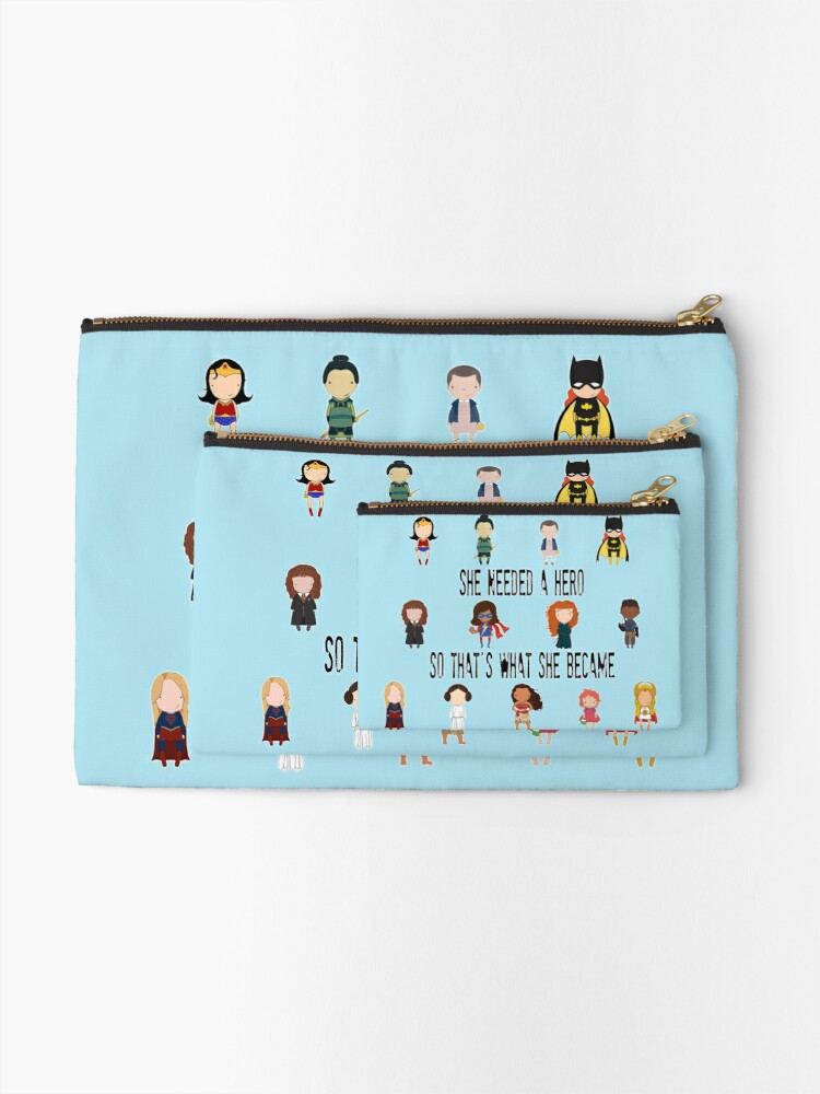 Alternate view of So that's what she became Zipper Pouch