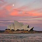 utzon sunset by Bruce  Dickson