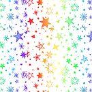 Rainbow Stars by soapyburps