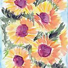 More bunches of sunflowers by Loretta Nash