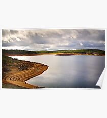 Dramatic sky over Canning Dam Poster