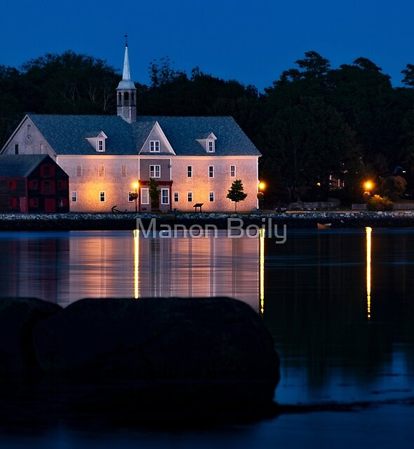 Church reflection by Manon Boily