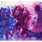The Blue Purple Pink Cave Painting by Mark Young