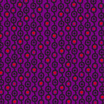 Purple Card Suits pattern by GwynplaineStuff