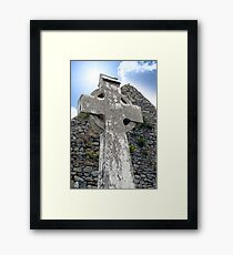 old kerry celtic cross Framed Print