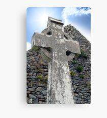 old kerry celtic cross Canvas Print