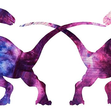 Tie Dye Dinosaurs by MarkYoung