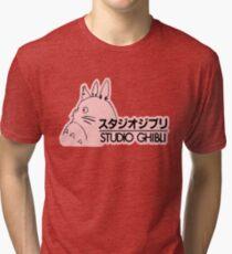 Pink Studio Ghibli Logo Tri-blend T-Shirt