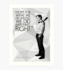 Will McAvoy - The Newsroom Art Print