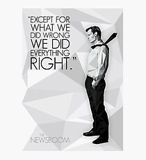 Will McAvoy - The Newsroom Photographic Print