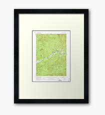 USGS Topo Map Oregon Leaburg 282646 1951 62500 Framed Print