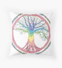 As above so below Chakra Tree Throw Pillow