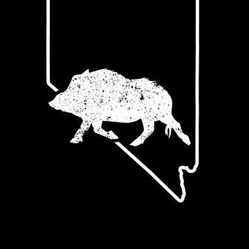 Wild Boar Tshirt Nevada Feral Hog Hunting Wild Pig by shoppzee
