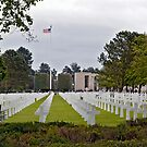 American WWII Cemetery at Colleville Sur Mer, Normandy, France by Buckwhite