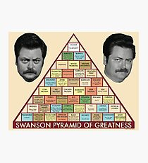 ron swanson's pyramid of greatness Photographic Print