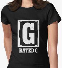 Rated G Shirt General Audiences Shirt Film Shirt Movie Shirt Women's Fitted T-Shirt