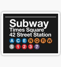 NYC SUBWAY, NEW YORK TIMES SQUARE - Phone Case, Shirts, Hoodies & Stickers Sticker