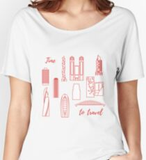 Unusual Japanese architecture. Travel and leisure. Women's Relaxed Fit T-Shirt