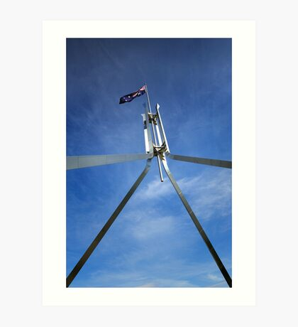 Flagpole at Parliament House - Canberra Art Print