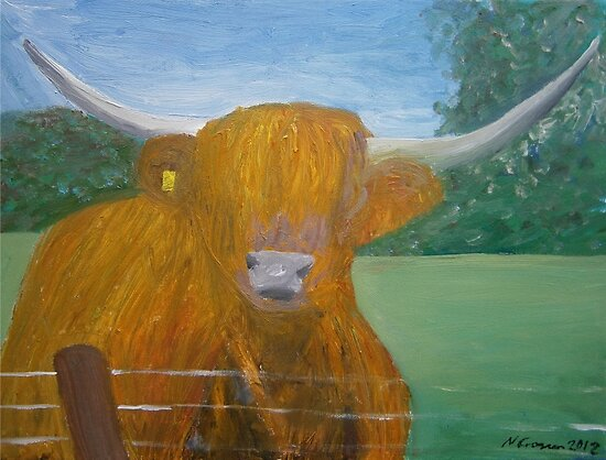 Highland Coo by CrossanArt