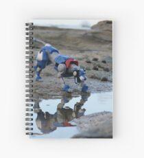 voltron blue lion reflection  Spiral Notebook