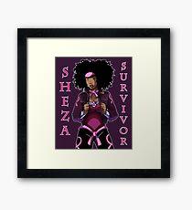 Sheza Survivor- Breast Cancer Hero Framed Print