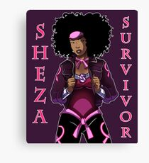 Sheza Survivor- Breast Cancer Hero Canvas Print
