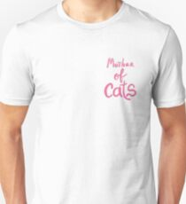 Mother of cats text Unisex T-Shirt