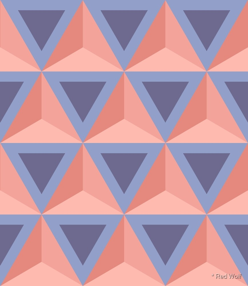 Geometric Pattern: Triangle: Blue/Orange by * Red Wolf