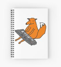 Happy little fox playing his keyboard Spiral Notebook