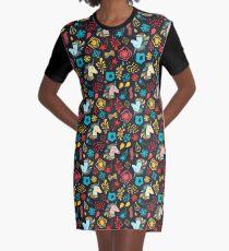 Unicorn party Graphic T-Shirt Dress
