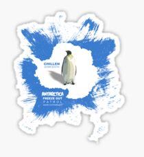 chillen in antartica Sticker
