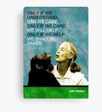 Jane Goodall Quote Canvas Print