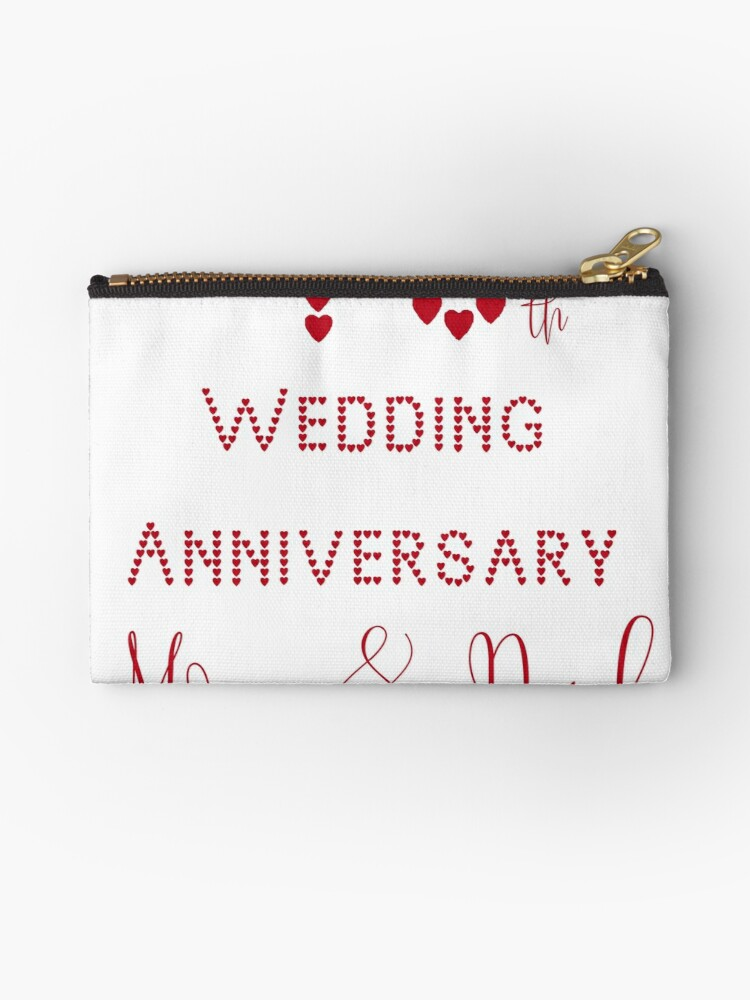 40th Wedding Anniversary.Ruby Wedding 40th Wedding Anniversary Parents Zipper Pouch By Ursparklingshop