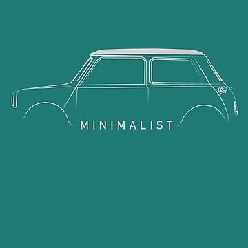 Minimalist People Classic Car Mini by screenworks