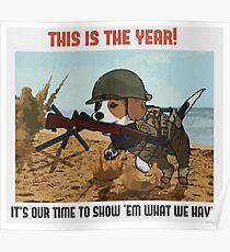 Beagle Infantry Poster