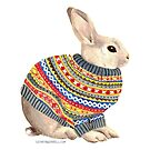 Bunny in a Sweater by Cathryn Worrell