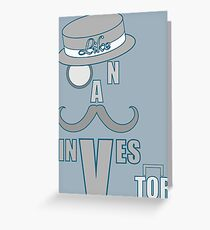 Mustache investor Greeting Card