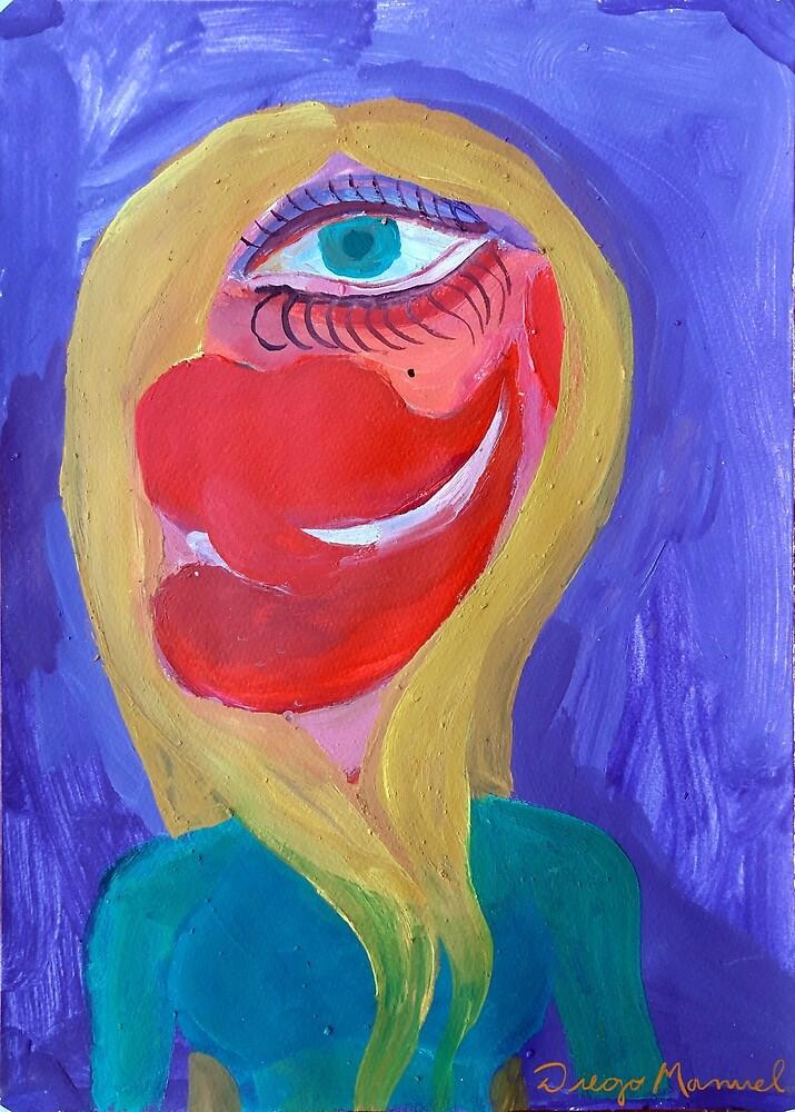 Blonde Cubist 2 by Diego Manuel Rodriguez