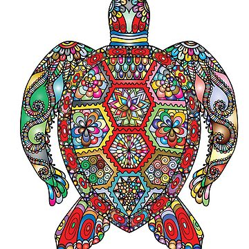 Colorful Turtle by TimCheesebrow
